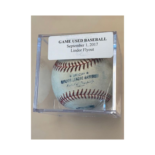 Photo of Game-Used Baseball: Francisco Lindor Flyout