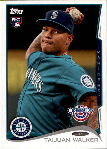 Photo of 2014 Topps Opening Day #143A Taijuan Walker RC/Ball visible