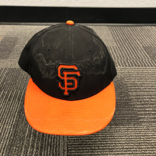 Photo of 2015 Game Used Batting Practice Cap Worn by #52 Yusmeiro Petit - Size 7 1/2