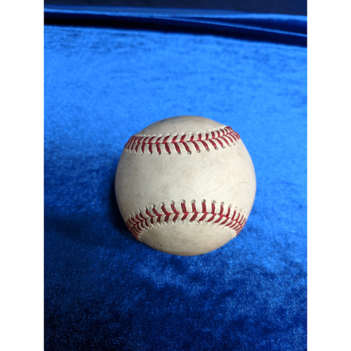 Photo of Game Used Baseball: Pitcher: Lance Lynn, Batter: Albert Pujols (Single) - 4-5-2019 vs. TEX