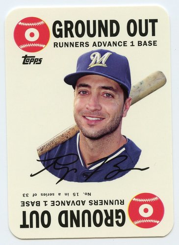 Photo of 2015 Topps Archives '68 Topps Game Inserts #15 Ryan Braun