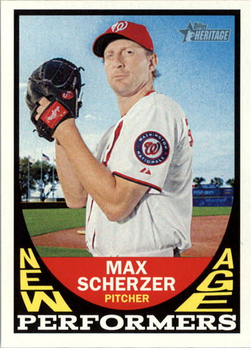 Photo of 2016 Topps Heritage New Age Performers #NAPMSC Max Scherzer