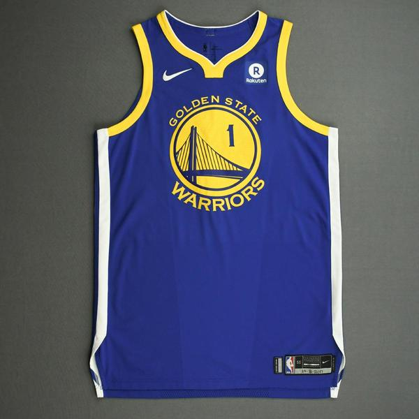 Image of JaVale McGee - Golden State Warriors - NBA China Games - Game-Worn Icon Edition Jersey - 2017-18 NBA Season