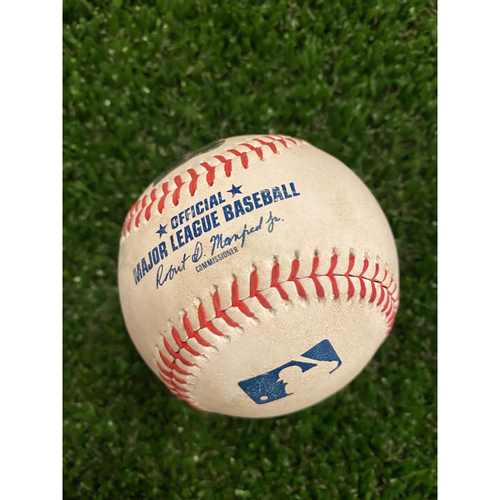 Photo of Austin Riley Game Used Home Run Baseball - August 22, 2020