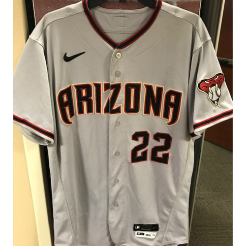 Photo of Jake Lamb 2020 Team-Issued Road Gray Jersey (Size 44)