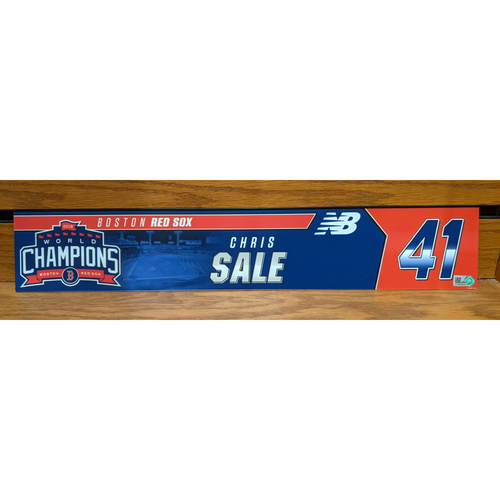 Photo of Chris Sale #41 Team Issued Locker Tag