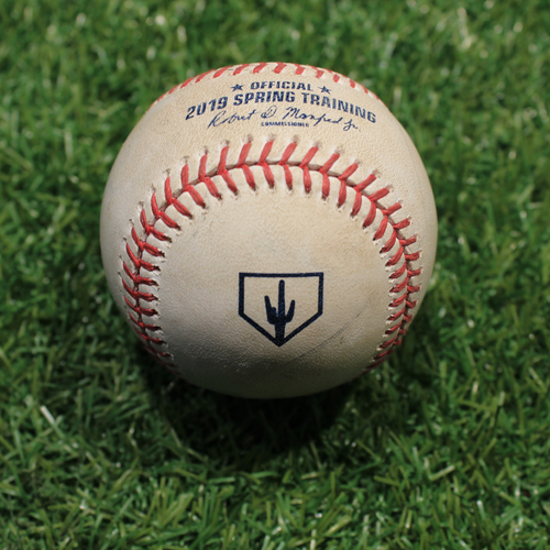 Photo of Game-Used Baseball: Boxberger - Strikeout (KC @ OMA 3/25/19)