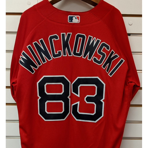 Photo of Josh Winckowski #83 Team Issued Nike Red Spring Training Jersey
