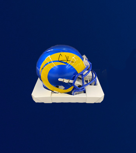 Photo of Cooper Kupp Signed Mini-Helmet