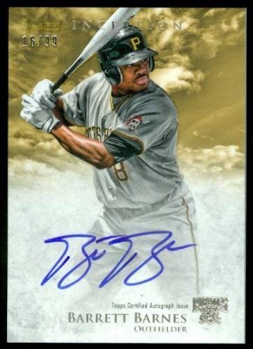 Photo of 2013 Bowman Inception Prospect Autographs Gold #BBA Barrett Barnes