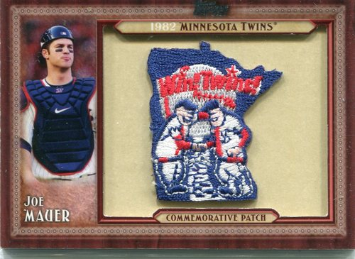 Photo of 2011 Topps Commemorative Patch #JM Joe Mauer-- Twins post-season