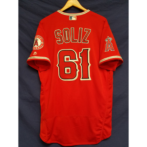 Photo of Steve Soliz Alternate Red Team-Issued Jersey