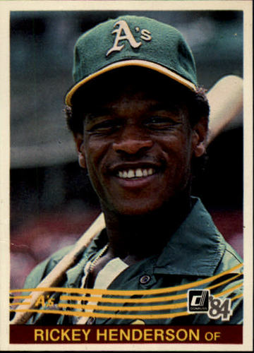Photo of 1984 Donruss #54 Rickey Henderson -- Hall of Fame Class of 2009