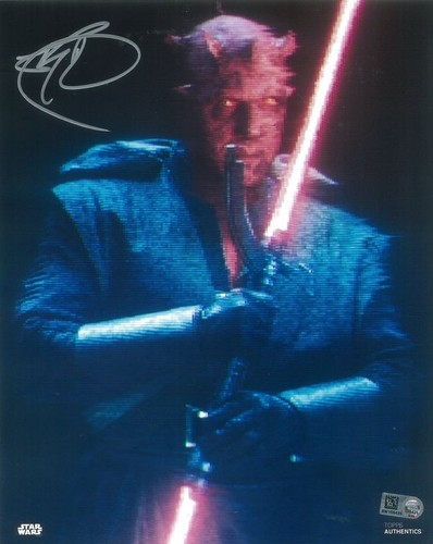 Ray Park As Maul 8X10 Autographed in Silver Ink Photo