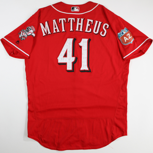 Photo of 2016  Spring Training -  Spring Training Used Jersey - Ryan Mattheus  (Reds) - Size 48