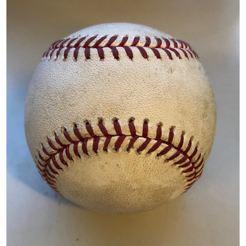 Photo of Game Used Baseball: Pitcher: Yusei Kikuchi, Batter: Andrelton Simmons (Single) - 4-20-2019 vs. SEA