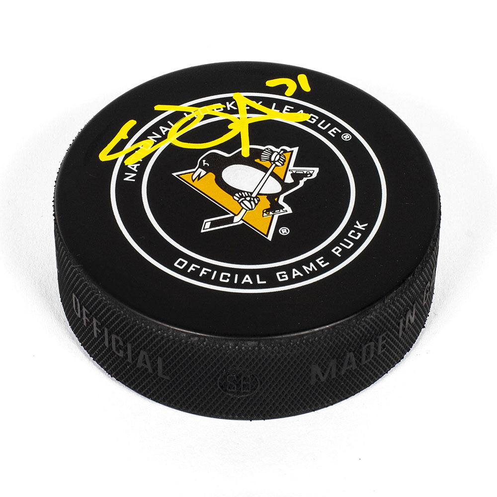 Evgeni Malkin Pittsburgh Penguins Autographed Official Game Model Hockey Puck