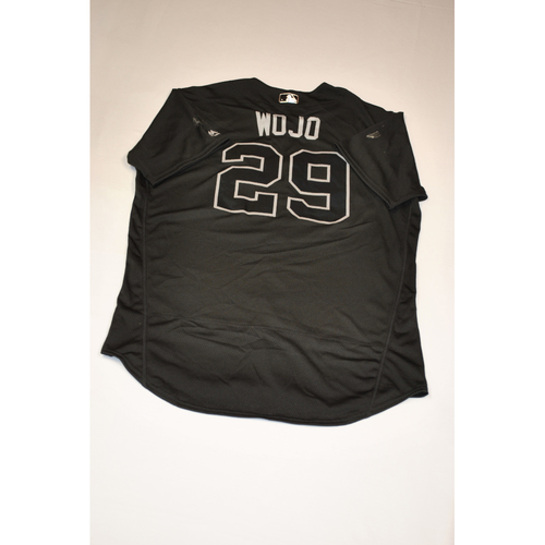 "Photo of Asher ""WOJO"" Wojciechowski Baltimore Orioles Game-Used 2019 Players' Weekend Jersey"