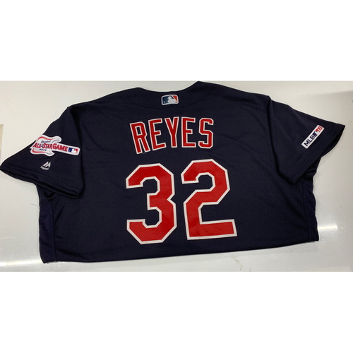 Photo of Franmil Reyes Game-Used Jersey - 9/24/19 @ CWS (1-4, Double)