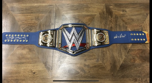 Goldberg SIGNED WWE SmackDown Universal Replica Title Belt
