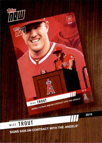 Photo of 2020 Topps '19 Topps Now Review #TNR1 Mike Trout