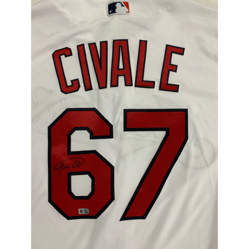 Photo of Aaron Civale Autographed 2020 Home Jersey