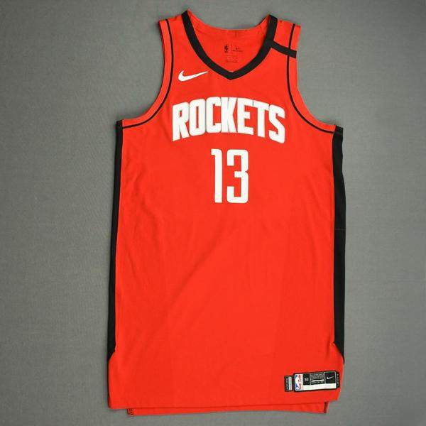 Image of James Harden - Houston Rockets - Game-Worn Icon Edition Jersey - Worn 2 Games - Scored Game-High 49 Points - 2019-20 NBA Season Restart