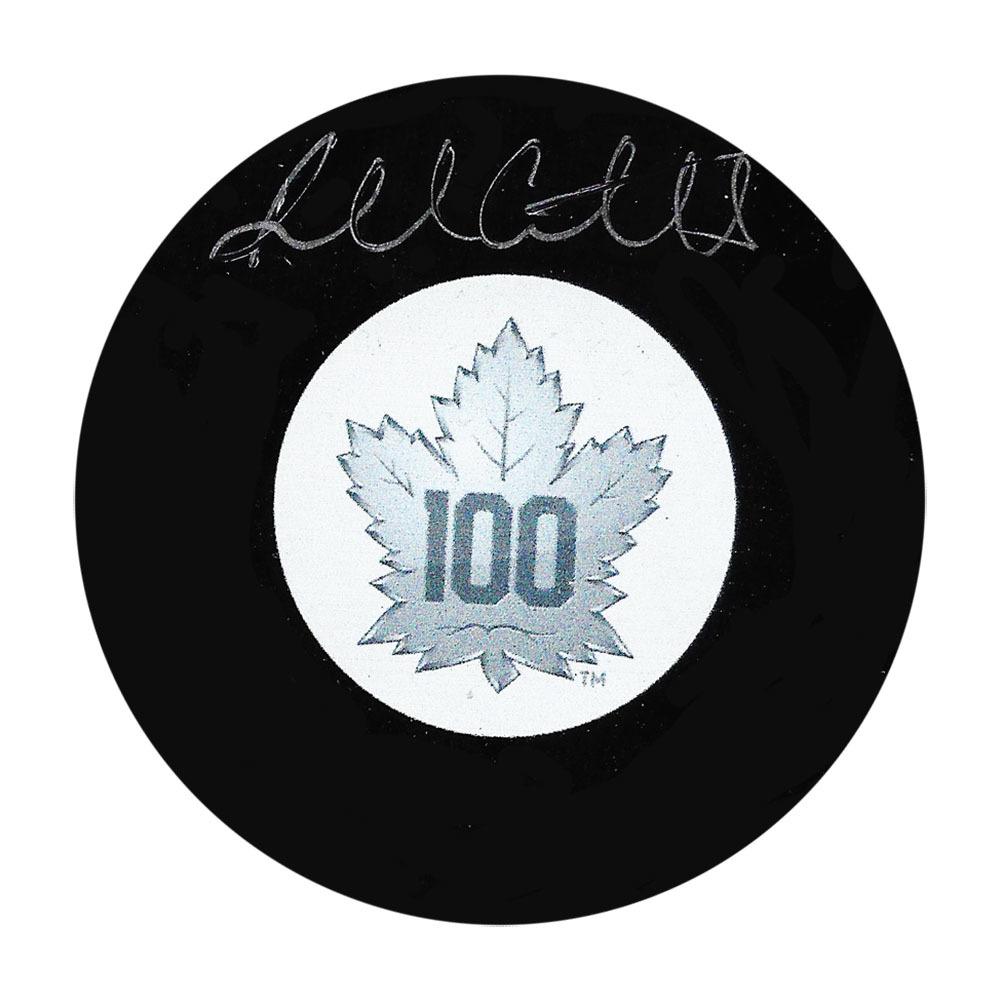 Russ Courtnall Autographed Toronto Maple Leafs Centennial Puck