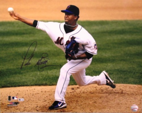Photo of Pedro Martinez Autographed Mets 16x20