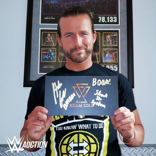 Adam Cole SIGNED NXT Championship Replica Side Plate Box Set