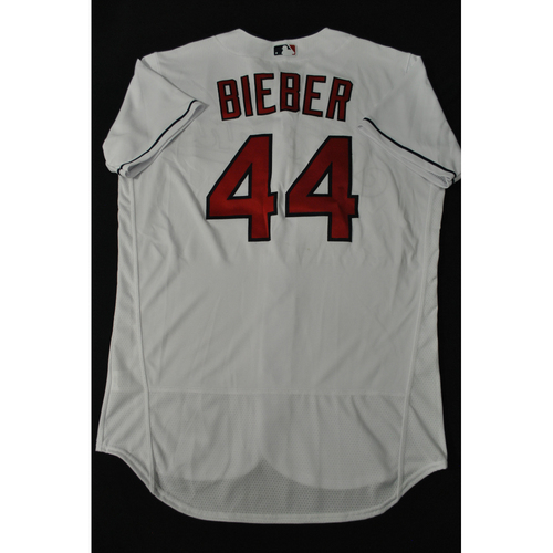 Photo of Hank Aaron Chasing the Dream Foundation: Shane Bieber 2021 MLB All-Star Workout Day BP Team-Issued # 44 Jersey
