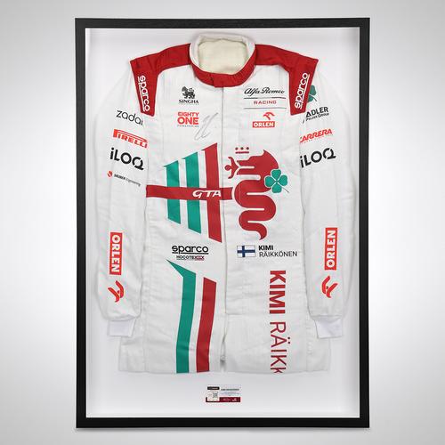 Photo of Kimi Raikkonen 2021 Signed Race Spec Race Suit - Italian GP