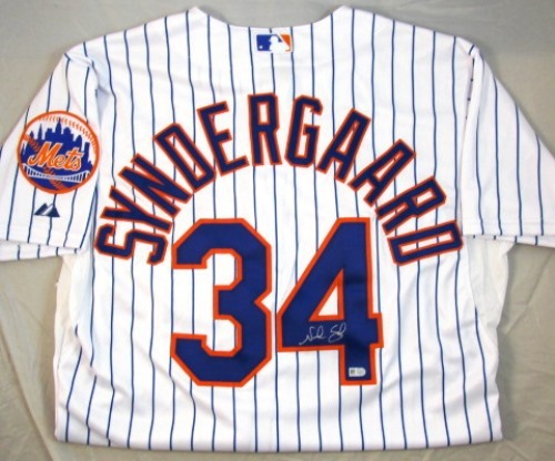 Photo of Noah Syndergaard Autographed Authentic White Mets Jersey