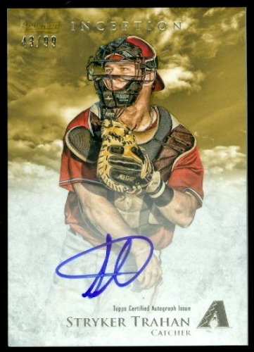 Photo of 2013 Bowman Inception Prospect Autographs Gold #ST Stryker Trahan