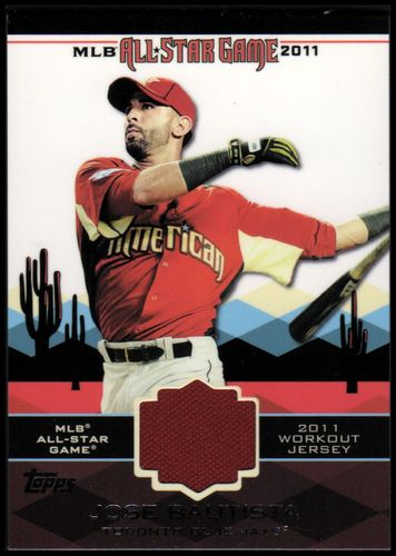 Photo of 2011 Topps Update All-Star Stitches #AS1 Jose Bautista