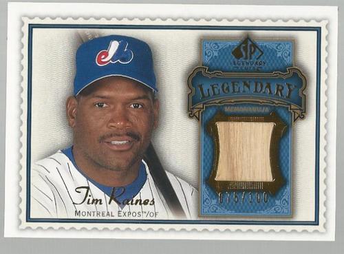 Photo of 2009 SP Legendary Cuts Legendary Memorabilia Blue #TR2 Tim Raines/100