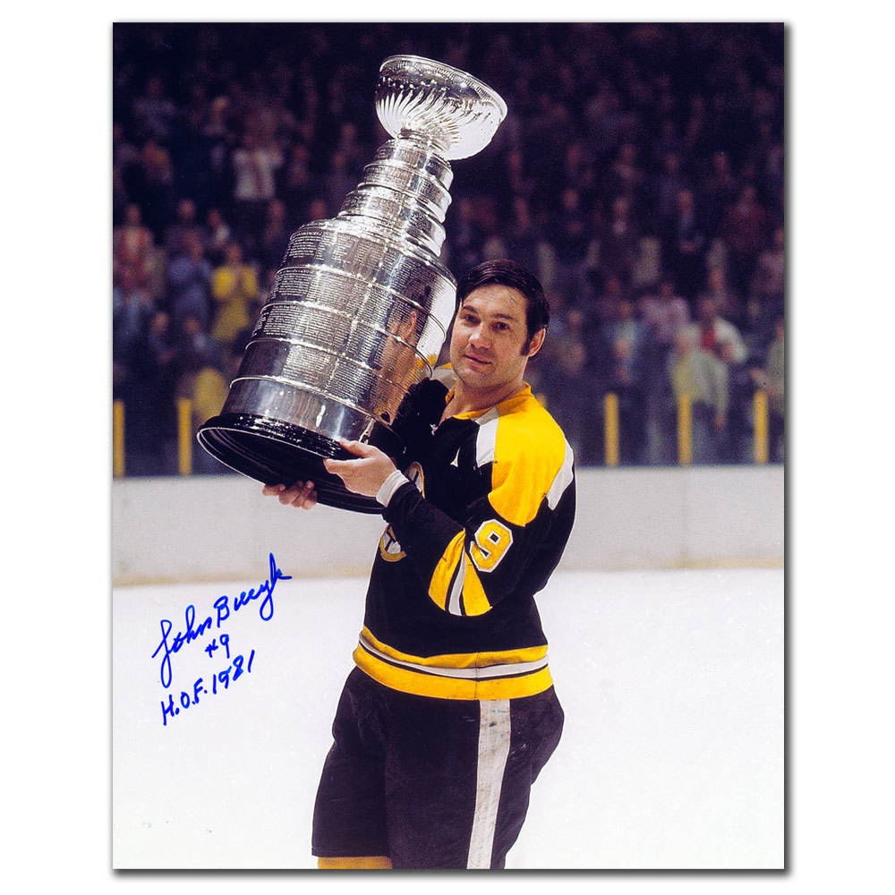 Johnny Bucyk Boston Bruins Stanley Cup Autographed 8x10