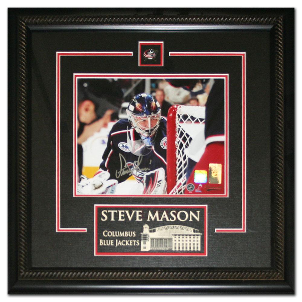 Steve Mason Autographed Columbus Blue Jackets Framed 8X10 Photo