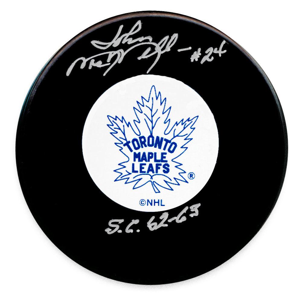 John MacMillan Toronto Maple Leafs SC Years Autographed Puck