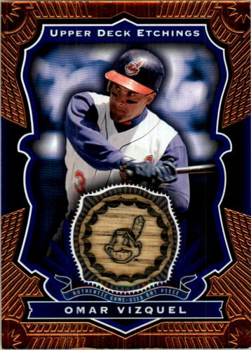 Photo of 2004 Upper Deck Etchings Game Bat Blue #OV Omar Vizquel