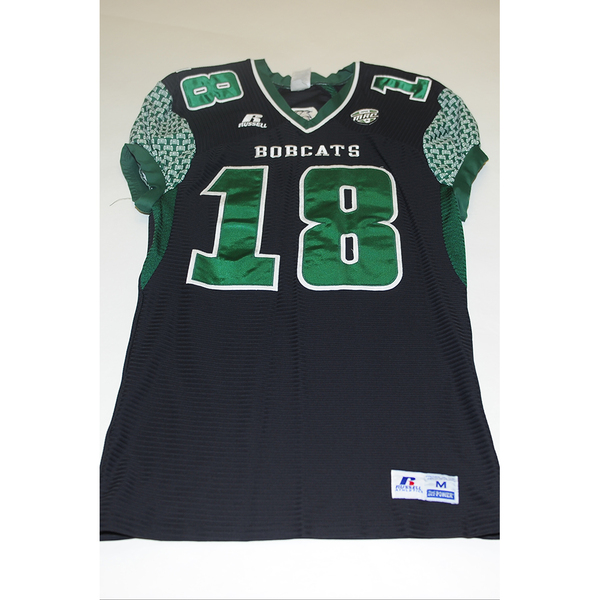 Photo of # 18 - Official OHIO BOBCATS Game Worn Football Jersey (2011) - SIZE MEDIUM