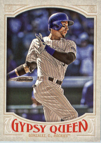 Photo of 2016 Topps Gypsy Queen #6 Carlos Gonzalez  -- Rockies post-season
