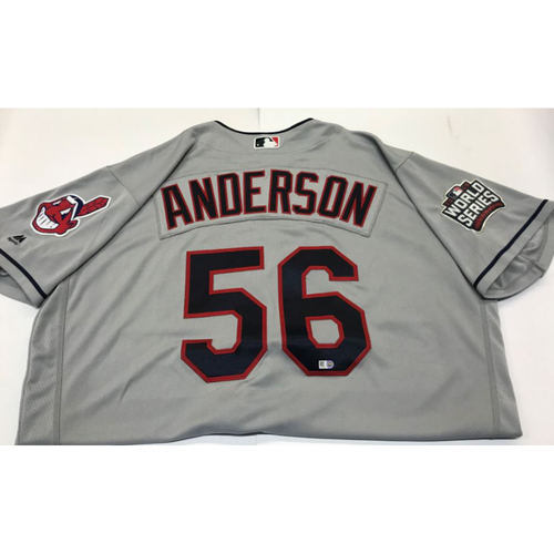 Photo of Cody Anderson Team-Issued 2016 World Series Jersey