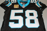 STS - PANTHERS THOMAS DAVIS GAME WORN PANTHERS JERSEY (NOVEMBER 2016) WASHED BY EQUIPMENT MANAGER