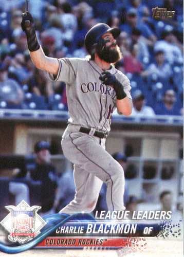 Photo of 2018 Topps #273 Charlie Blackmon LL