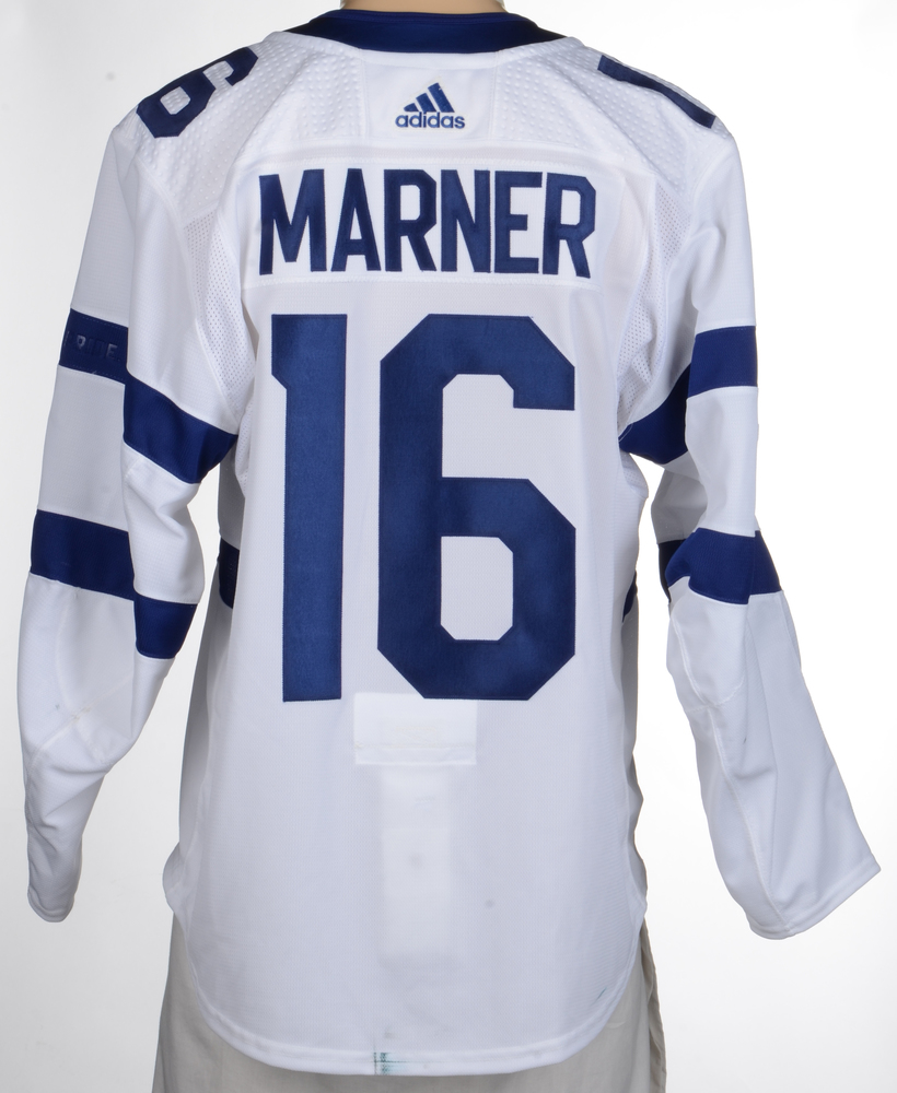online store 8b4f9 96c26 Mitch Marner Toronto Maple Leafs Game-Worn 2018 NHL Stadium ...