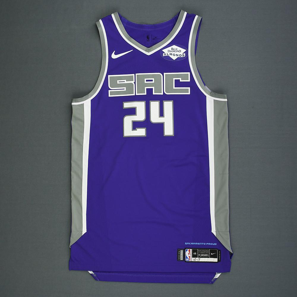Buddy Hield - Sacramento Kings - Kia NBA Tip-Off 2018 - Game-Worn Icon Edition Jersey