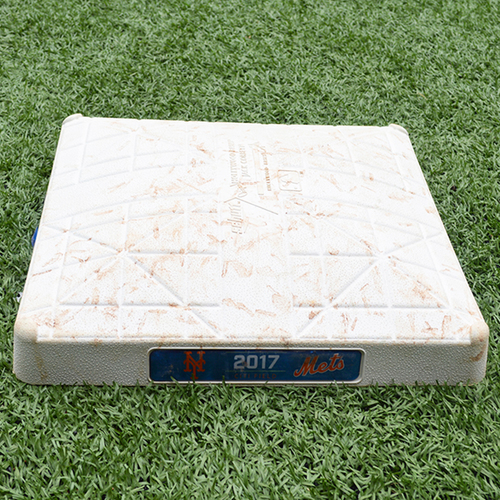 Game Used 3rd Base - Innings 1-3 - Mets vs. Dodgers - 8/4/17