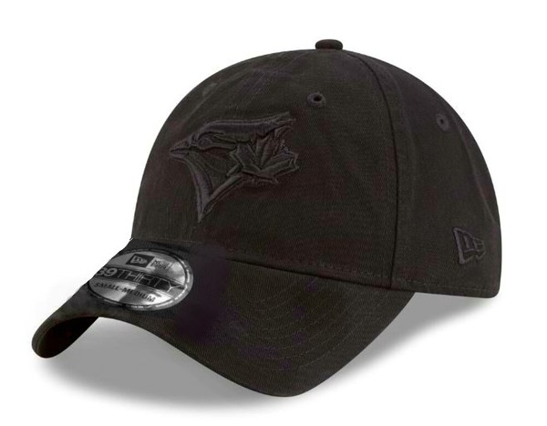 Toronto Blue Jays Tonal Team Black Flex Fit Cap by New Era
