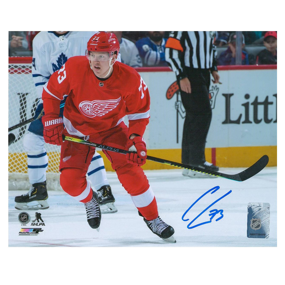 ADAM ERNE Signed Detroit Red Wings 8 X 10 Photo - 70440